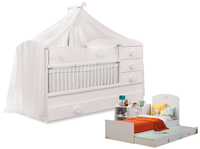 Cilek BABY COTTON mitwachsendes Babybett, 80x180 cm