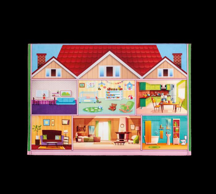 Cilek Spielteppich HAUS, 100 x 150 cm