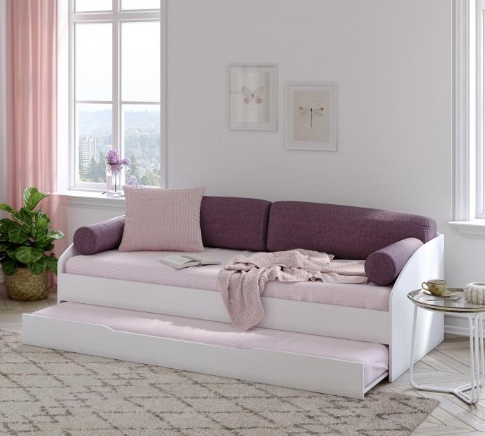 Cilek LINE Sofabett mit Bettkasten, 90x200 cm - weiss