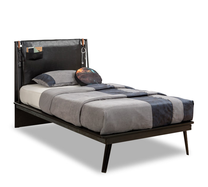 Cilek DARK METAL Bett, 2 Größen