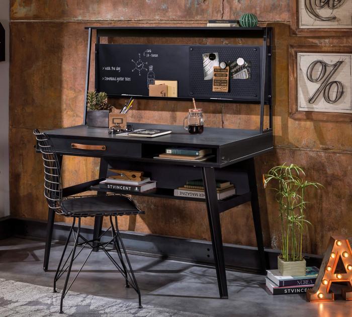 Cilek DARK METAL Line Schreibtisch mit Aufsatz