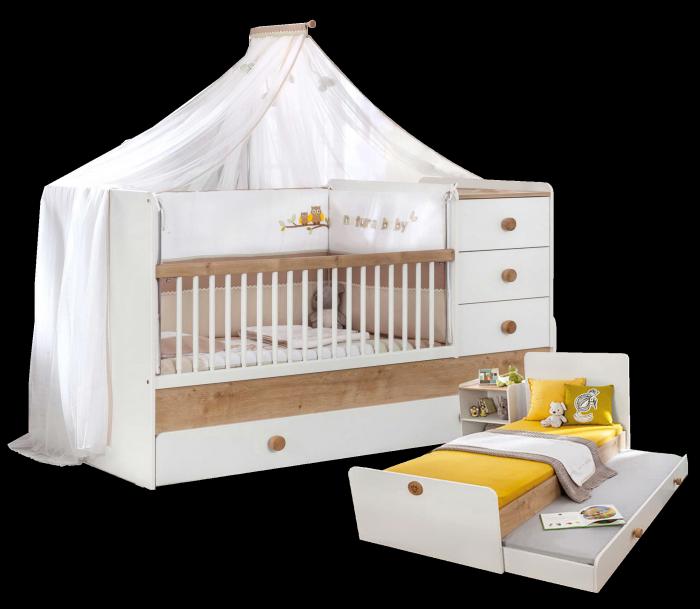 Cilek NATURA BABY mitwachsendes Babybett, 80x130-180 cm