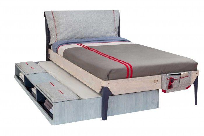 Cilek TRIO Bett L inkl. Zusatzbett mit Sitzfläche