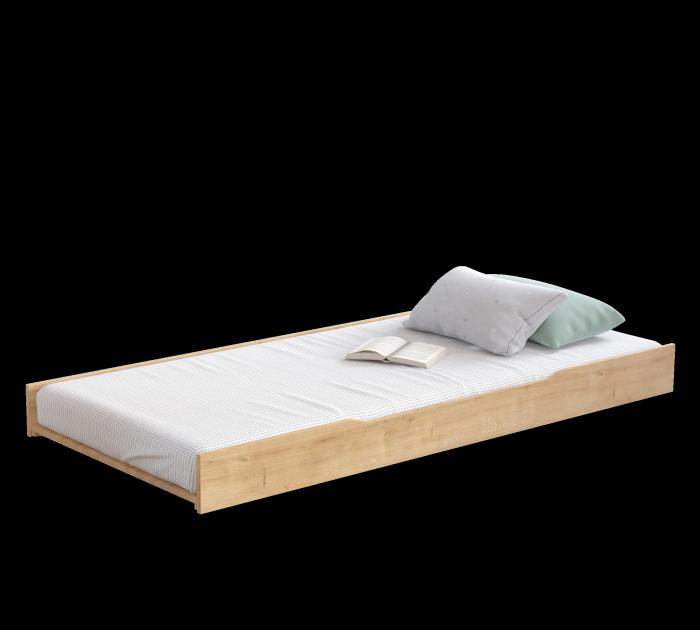 Cilek LINE Bettkasten / Ausziehbett, 90x200 cm- mocha