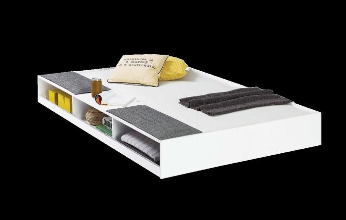 Cilek Bettkasten / Ausziehbett WHITE, 90x190 cm