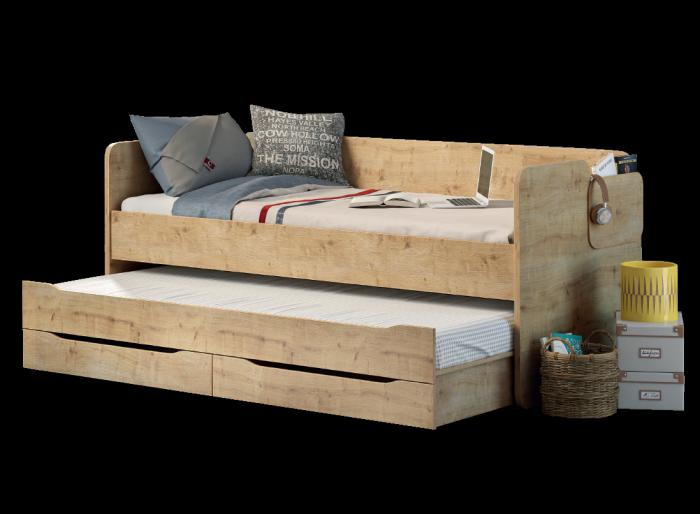Cilek MOCHA Studio Bett mit Ausziehbett und Bettkasten, 90x200 cm